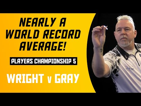ONE DART FROM A WORLD RECORD! | Peter Wright V Adrian Gray | Players Championship 5