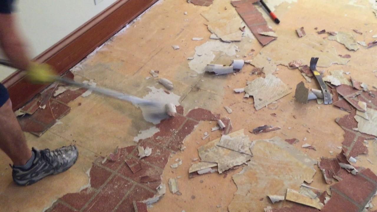 How to remove vinyl flooring youtube how to remove vinyl flooring dailygadgetfo Choice Image