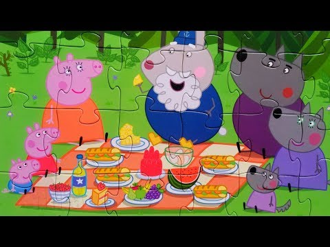 СВИНКА ПЕППА в гостях у Венди - собираем пазл для детей Свинка Пеппа | Merry Nika