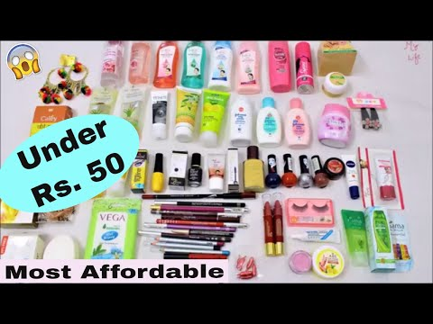 Best Makeup & Skincare Products Under Rs. 50    Most Affordable Makeup Products in India   