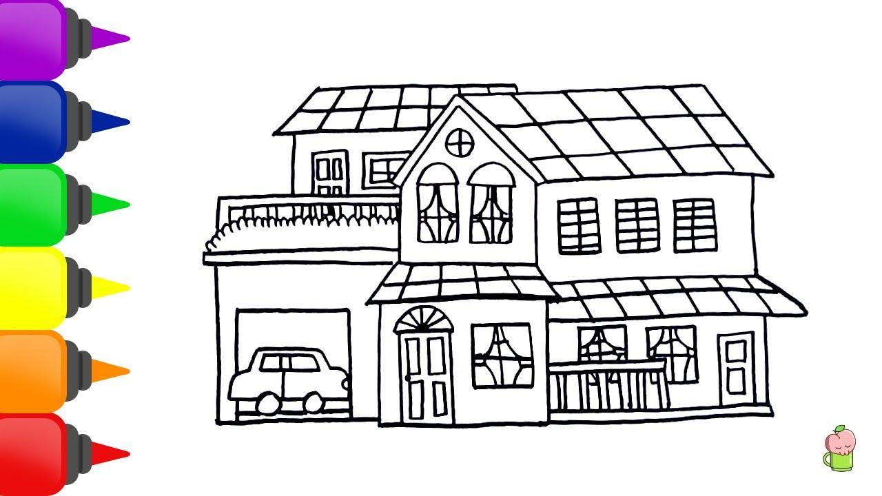 Rumah Mewah Belajar Menggambar Dan Mewarnai Untuk Anak Anak