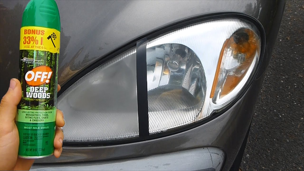 Using Bug Spray To Clean Headlights Warning Youtube