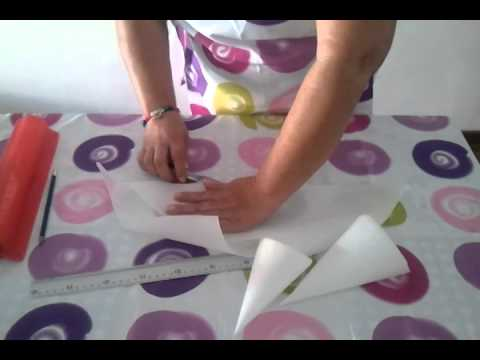 Como hacer una manga de papel - YouTube