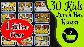 30 Lunch Box Recipes For Kids  Indian Lunch Box Recipes   Easy And Quick Tiffin Ideas For Kids