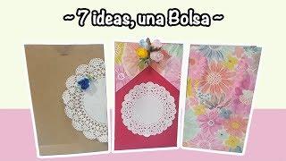 7 ideas de Bolsas de Regalo (Papel, Cartulina y Blondas de papel) ~ Manualidad fácil y económica