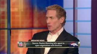BRONCOS SIGN PEYTON MANNING! - First take discussion- Skip Bayless comments