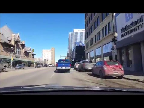 Saskatoon, Sk - driving from Rosewood to Downtown (March 2016)