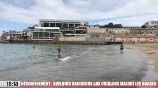 Déconfinement à Marseille : liberté retrouvée sur la plage des Catalans