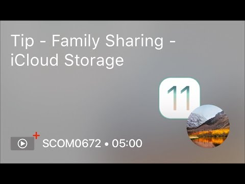 SCOM0672   Tip   Family Sharing   ICloud Storage