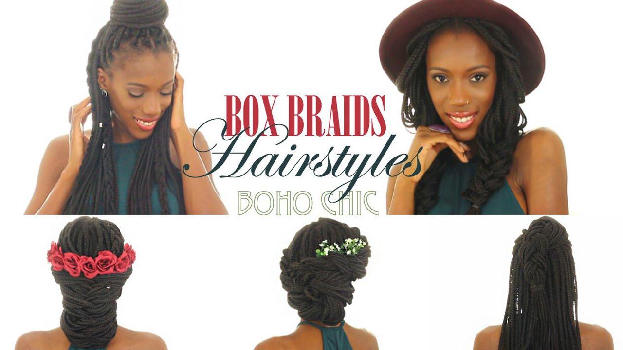 Box Braids Hairstyles Youtube: 5 Box Braids Hairstyles