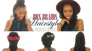 5 box braids hairstyles boho chic