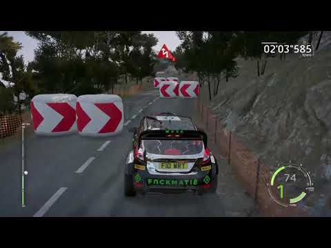 WRC 6 FIA World Rally Championship-FORD FIESTA RS WRC TOUR DE CORSE GAMEPLAY PS4