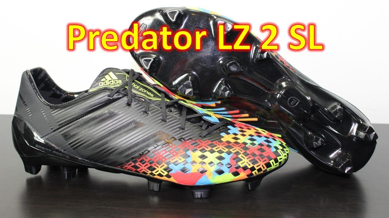 cheap for discount ff072 375cb Adidas Predator LZ 2 SL Black/Slime - Unboxing + On Feet