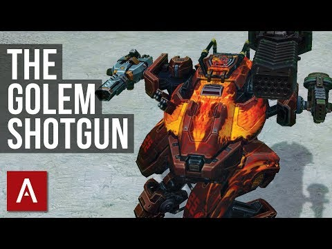 War Robots: Golem SHOTGUN Gameplay (Thunder, Storm, Gust)