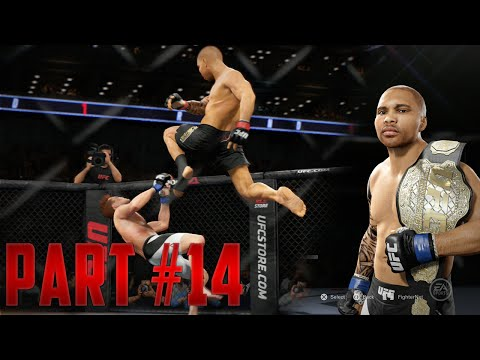 EA Sports UFC 2 Career Mode Walkthrough Part 14 - Super Flying Knee Knockout From The CHAMP!