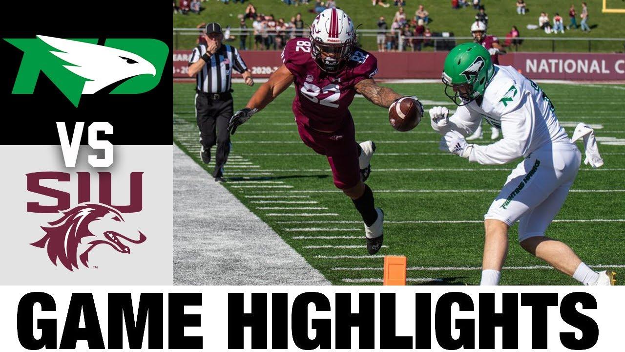 #22 North Dakota vs #4 Southern Illinois   FCS Week 7   2021 College Football