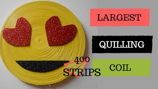 LARGEST Quillling tight coil ever!! 400 strips of quilling paper| emoji key chain holder