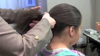 Как сделать причёску бабетту при помощи валика, просто и быстро!