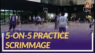 Lakers Practice: 5-on-5 Scrimmage Footage At the End of Practice