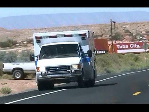Navajo Nation EMS ambulance driving in Tuba City [AZ | 7/2011]