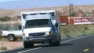 Navajo Nation EMS ambulance driving in Tuba City [AZ | 7/2011]