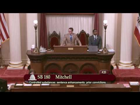 Sen. Holly J. Mitchell talks about why reasonable sentences are necessary.