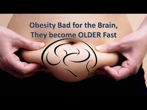 Brain of Obese, Become Older Fast