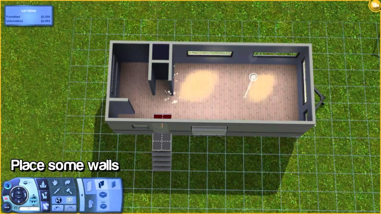 The Sims 3 Tutorial Building A Caravan 5050sims3 Youtube