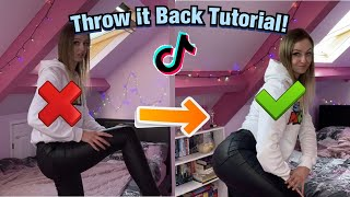 HOW TO THROW IT BACK TIKTOK TUTORIAL!! *beginners*