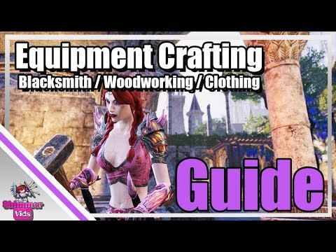 ESO: Gear Crafting Information – Blacksmithing / Woodworking / Clothes
