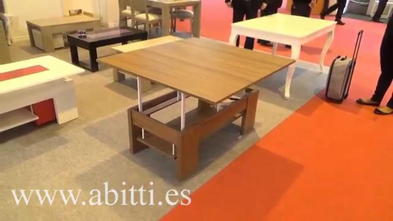Descatalogado mesa de centro convertible a mesa comedor - Centros mesa salon ...