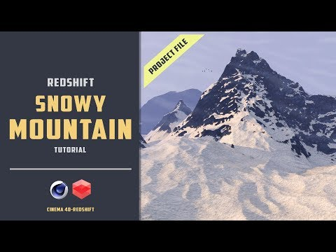Procedural Snowy Mountain With Redshift [EXPERIMENTAL][CINEMA 4D TUTORIAL]