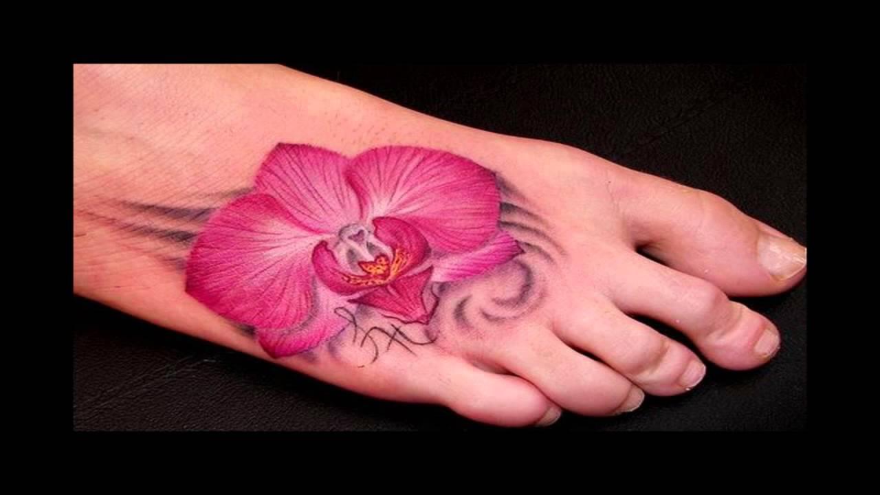 Tatuajes Para Mujeres De Flores En Espalda Pies Cintura 2014 Youtube