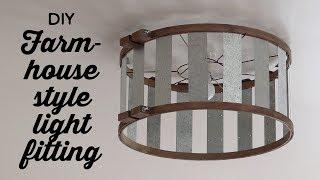 DIY Farmhouse Style Light Fitting | A Thousand Words