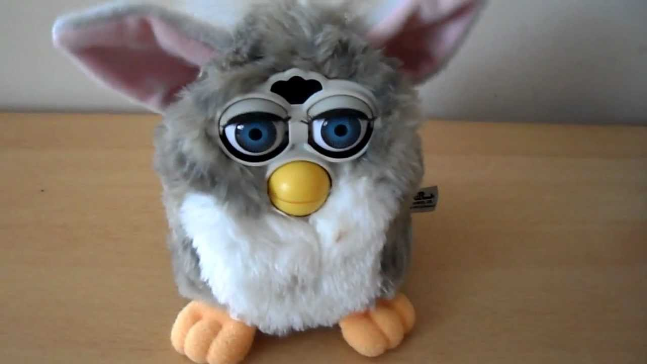 MY FAVOURITE CUTE TOY FURBY GREY AND PINK SPEAKING TOY PET ...