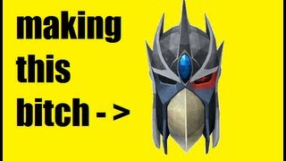 making a (complete) full slayer helmet - RuneScape Tutorial/commentary