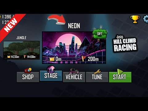 Hill Climb Racing - New Map NEON - 1.39.0 Update