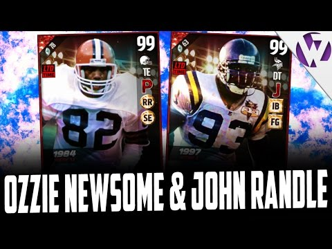 ULTIMATE LEGEND OZZIE NEWSOME & ULTIMATE LEGEND JOHN RANDLE - MADDEN 17 PACK OPENING