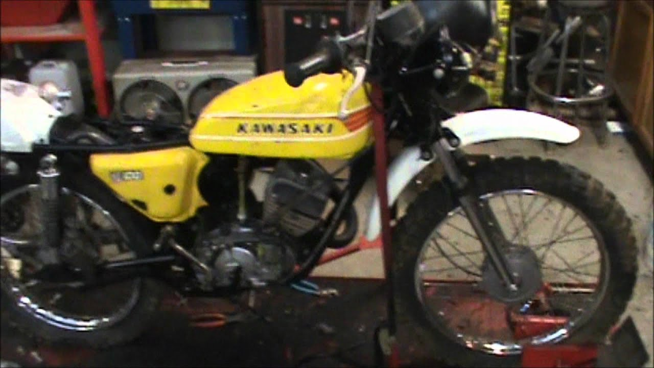 Kawasaki Kv 100 Wiring Diagram Trusted 1975 Old Running Again Youtube 400