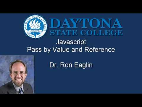 Javascript Pass by Value and Reference