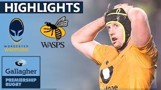 Worcester v Wasps HIGHLIGHTS | Bonus Point For Winners In Close Match | Gallagher Premiership