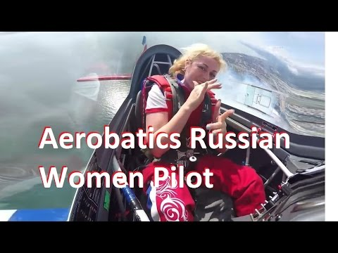Aerobatics S. Kopanina Woman Pilot From the Cockpit View Rus