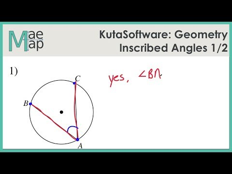 KutaSoftware: Geometry-  Inscribed Angles Part 1