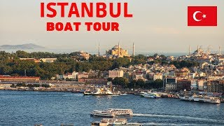 TRAVELING BY BOAT IN ISTANBUL TURKEY 2018 - BOSPHORUS TOUR