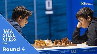 Tari and Firouzja's Tactical Battle   Tata Steel Chess 2021