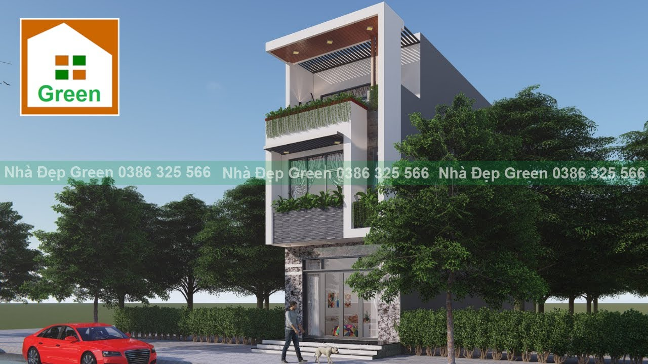 Nhà Đẹp | Mẫu Nhà Phố 3 Tầng có Tầng 1 Kinh Doanh 5 m x 20 m ở Tp. Hải Phòng