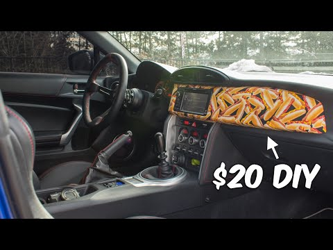 CRAZY BRZ Dash Trim Wrap!