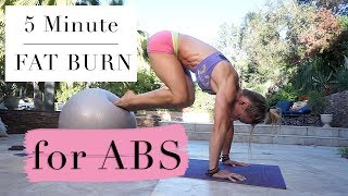 6 EXERCISES FOR ABS - 5 Minute Fat Burn #127