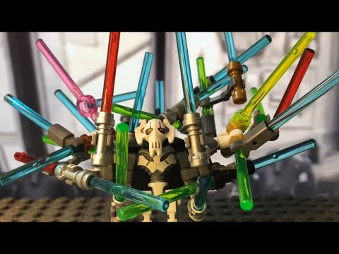 Lego General Grievous has to many lightsabers.