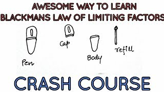 Awesome way to learn Blackman's law of limiting factors :Crash course lecture.